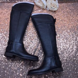 Franco Sarto Black Knee High Boots 5M